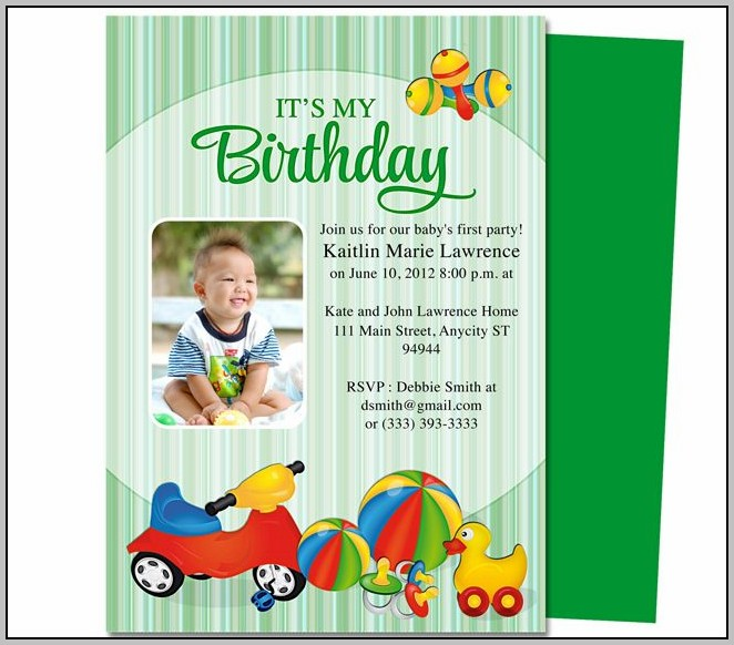 Birthday Party Invitation Template Publisher