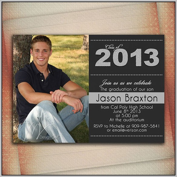 Boy Graduation Announcements