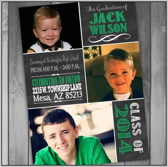 Boy Graduation Invitations
