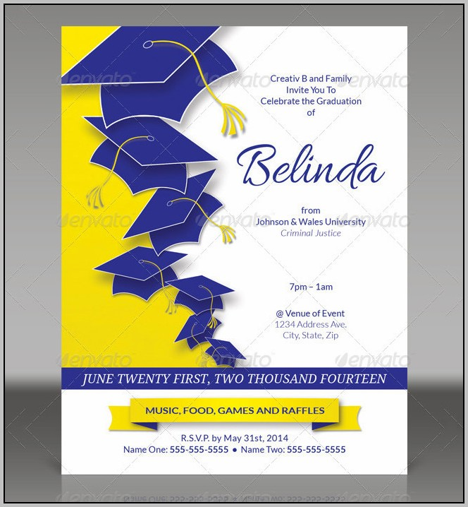 Commencement Invitation Template