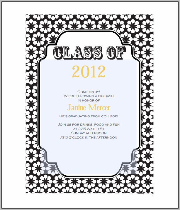 Diploma Invitation Template
