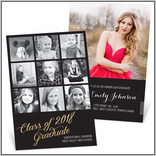 Double Graduation Party Invitations