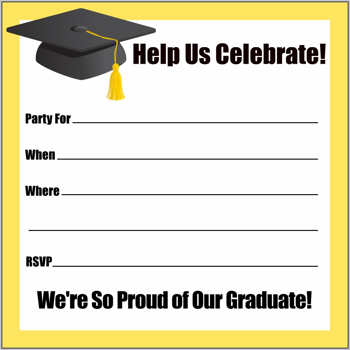 Downloadable Graduation Invitations