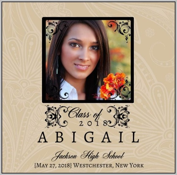 Elegant Graduation Invitations