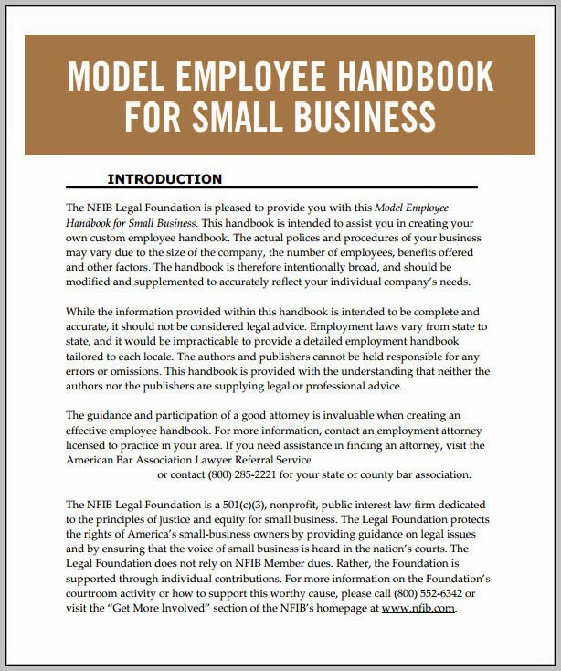 Employee Handbook Sample Australia