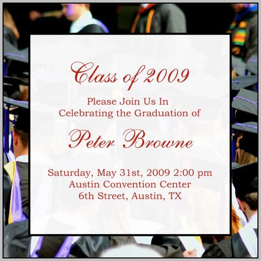 Examples Of Graduation Announcements