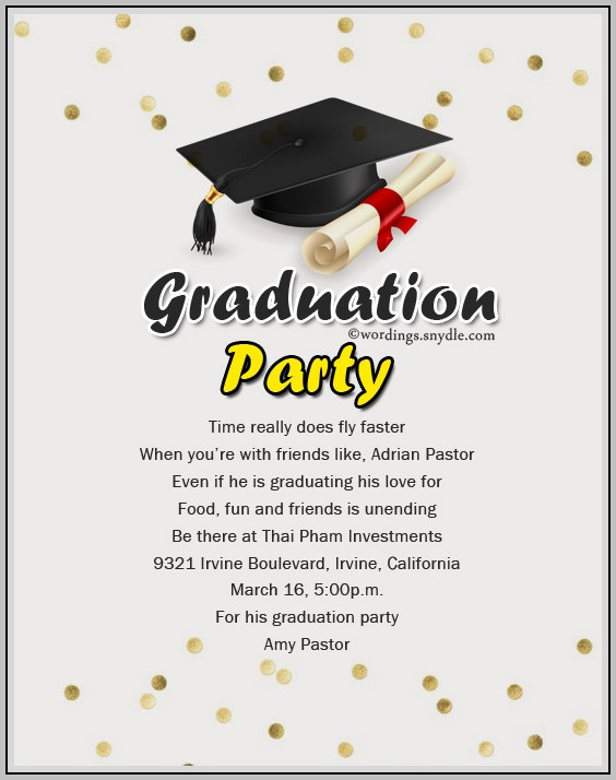 Examples Of Graduation Party Invitations