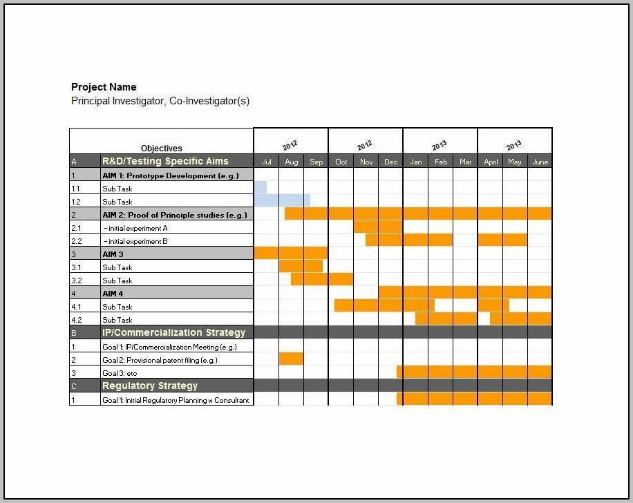Excel Gantt Chart 2007 Template Download