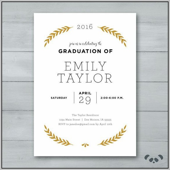 Fill In Graduation Party Invitations
