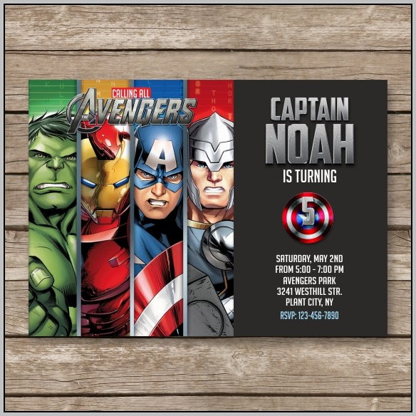 Free Avengers Birthday Invitation Templates