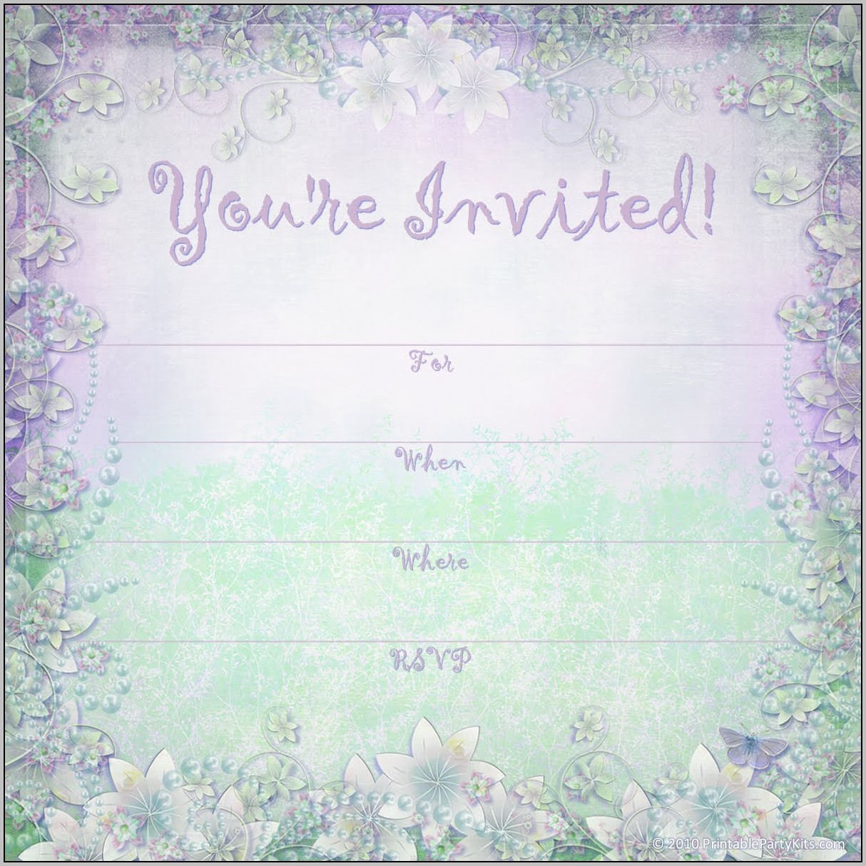 Free Birthday Invitation Background Templates