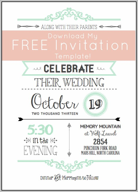 Free Birthday Invitation Card Template Photoshop