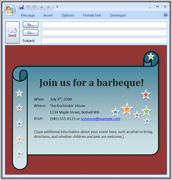 Free Birthday Invitation Templates For Emailing