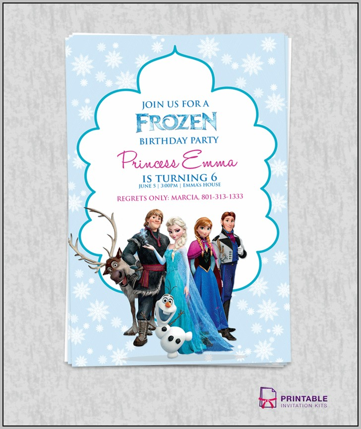 Free Birthday Invitation Templates Frozen