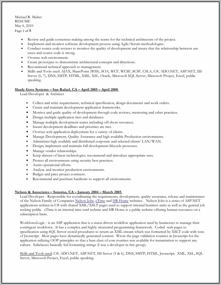 Free Download Resume Format Doc File