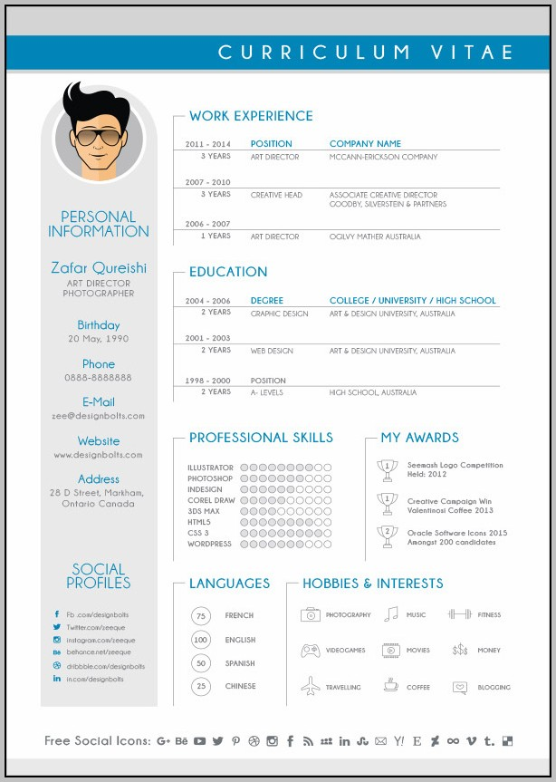 Free Download Resume Format Graphic Designer