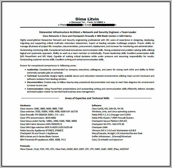 Free Download Resume Format Hardware Networking