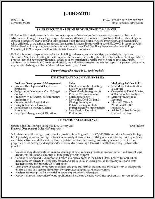Free Download Resume Format Sales Executive