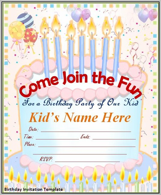 Free Editable Birthday Invitation Cards Templates