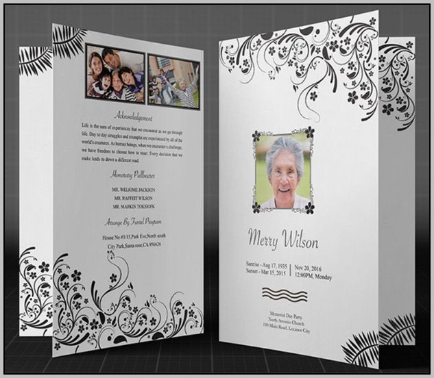 Free Funeral Program Design Templates