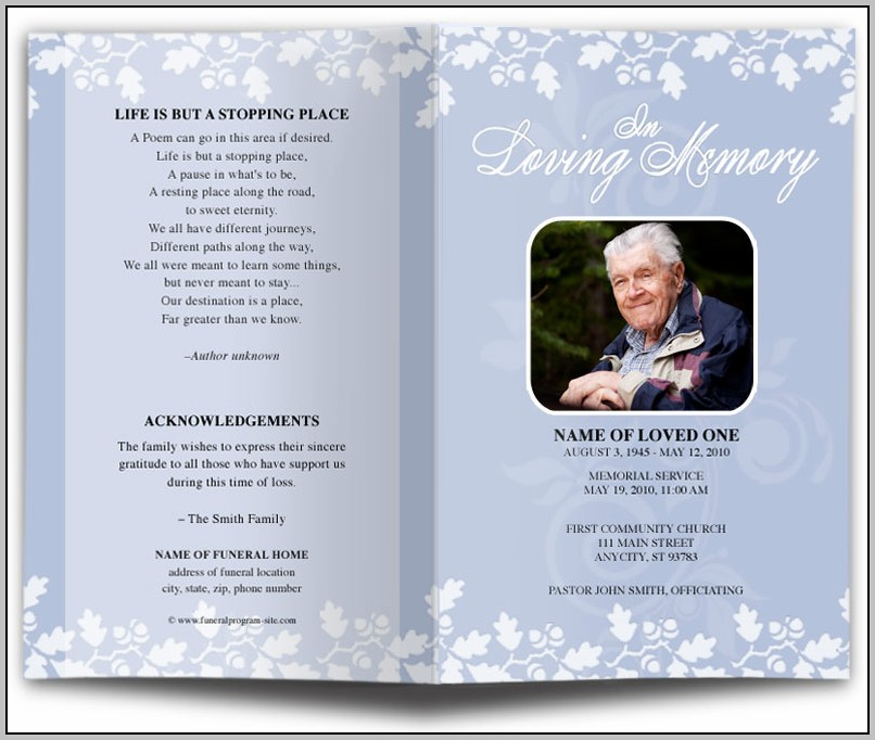 Free Funeral Program Template For A Baby