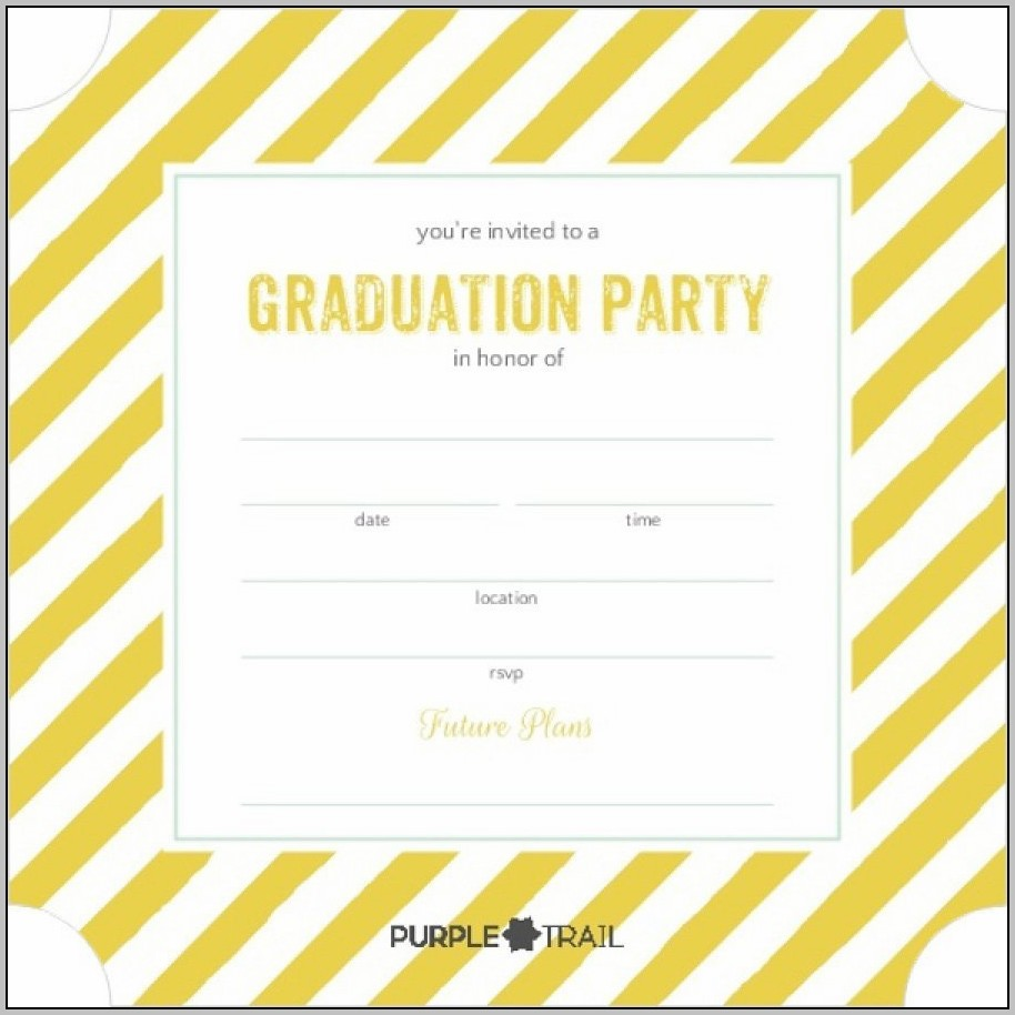 Free Grad Announcement Template