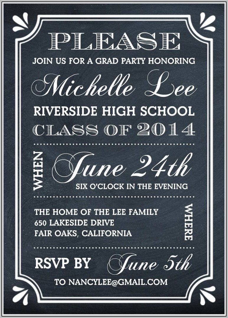 Free Graduation Party Templates