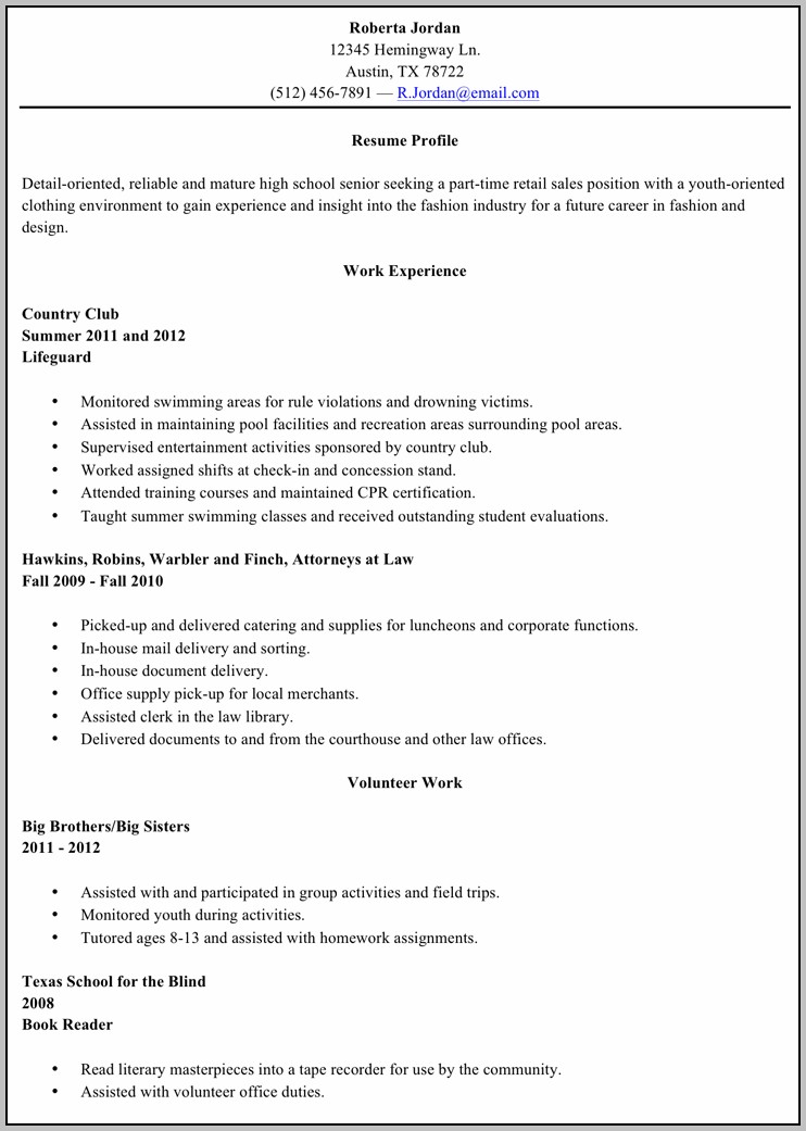 Free High School Graduate Resume Templates