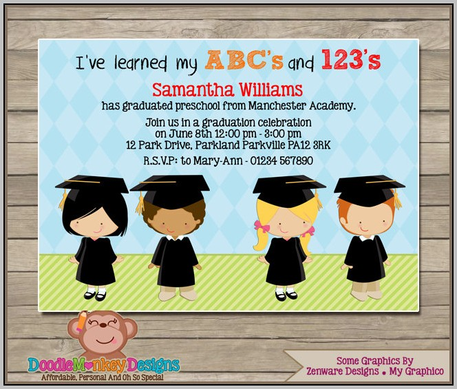 Free Kindergarten Graduation Invitations