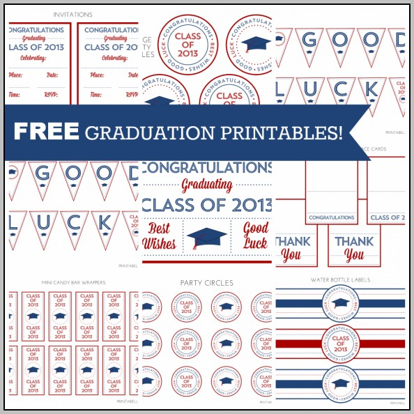 Free Printable Graduation Templates