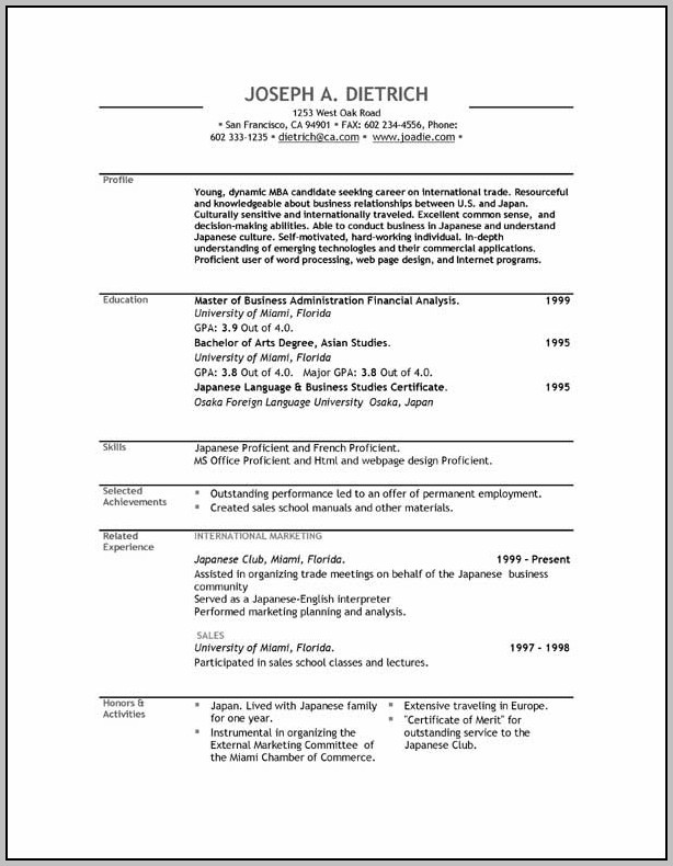 Free Resume Template Software Download