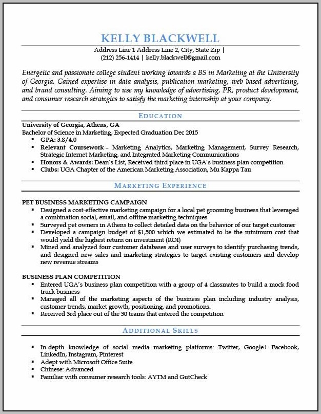 Free Student Entry Level Resume Templates