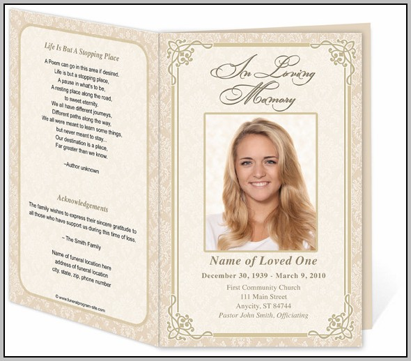 Free Template For A Funeral Program