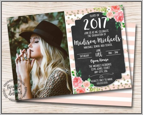 Girl Graduation Invitations