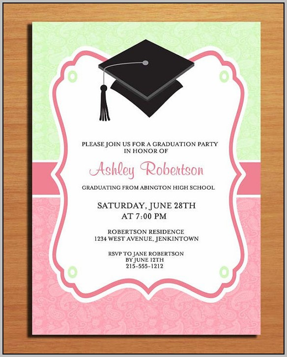 Grad Party Announcements