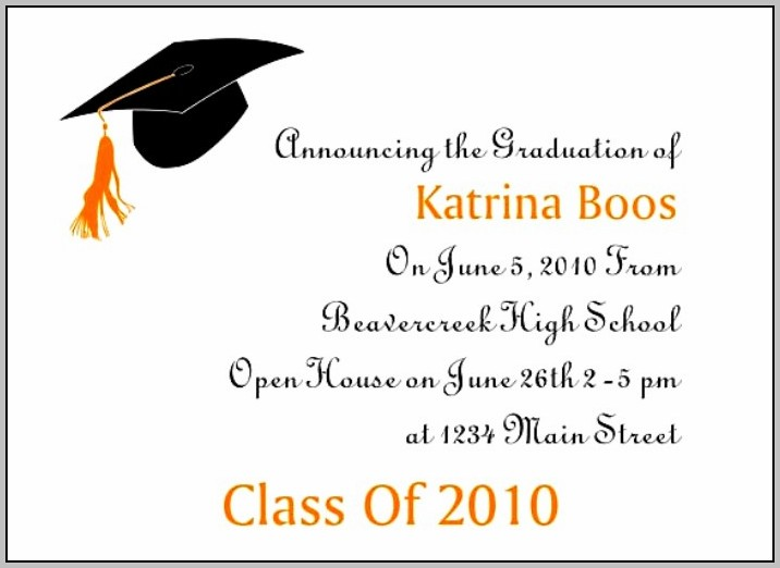 Grad Party Invite Templates