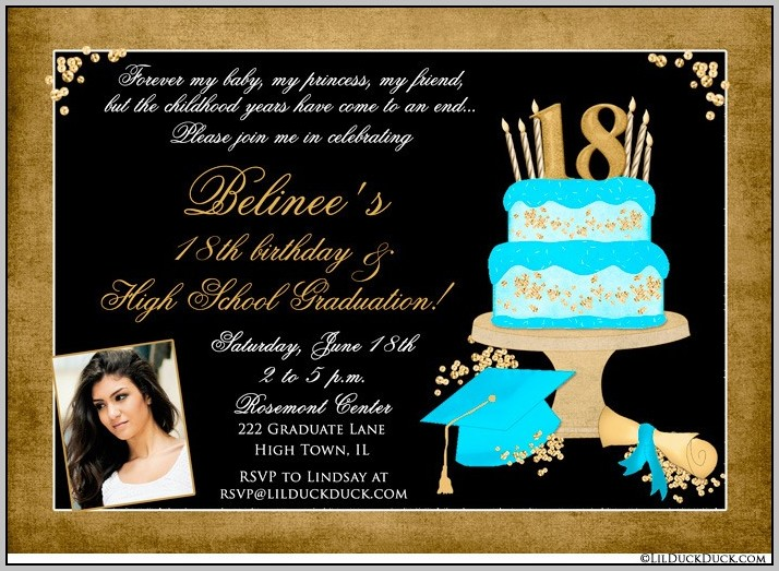 Graduation And Party Invitations