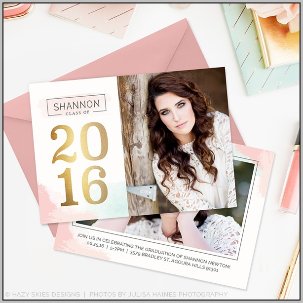 Graduation Announcement Cards Templates
