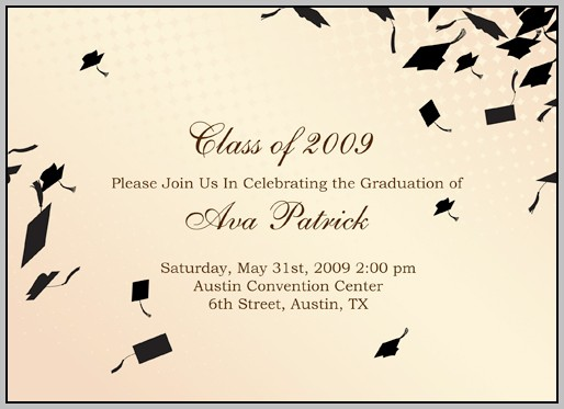 Graduation Announcement Insert Template