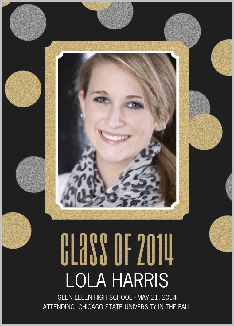 Graduation Announcement Layout