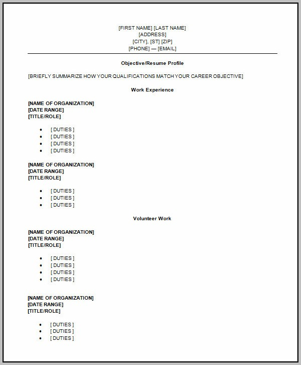 High School Resume Template Word 2010