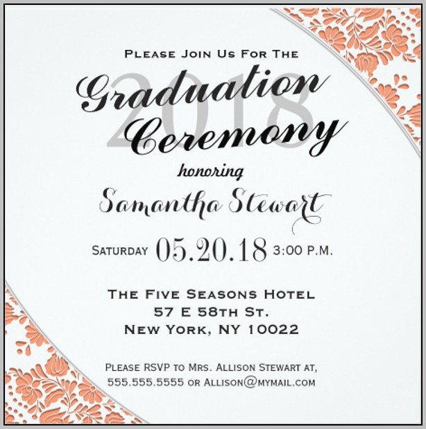 Lank Graduation Invitation Templates