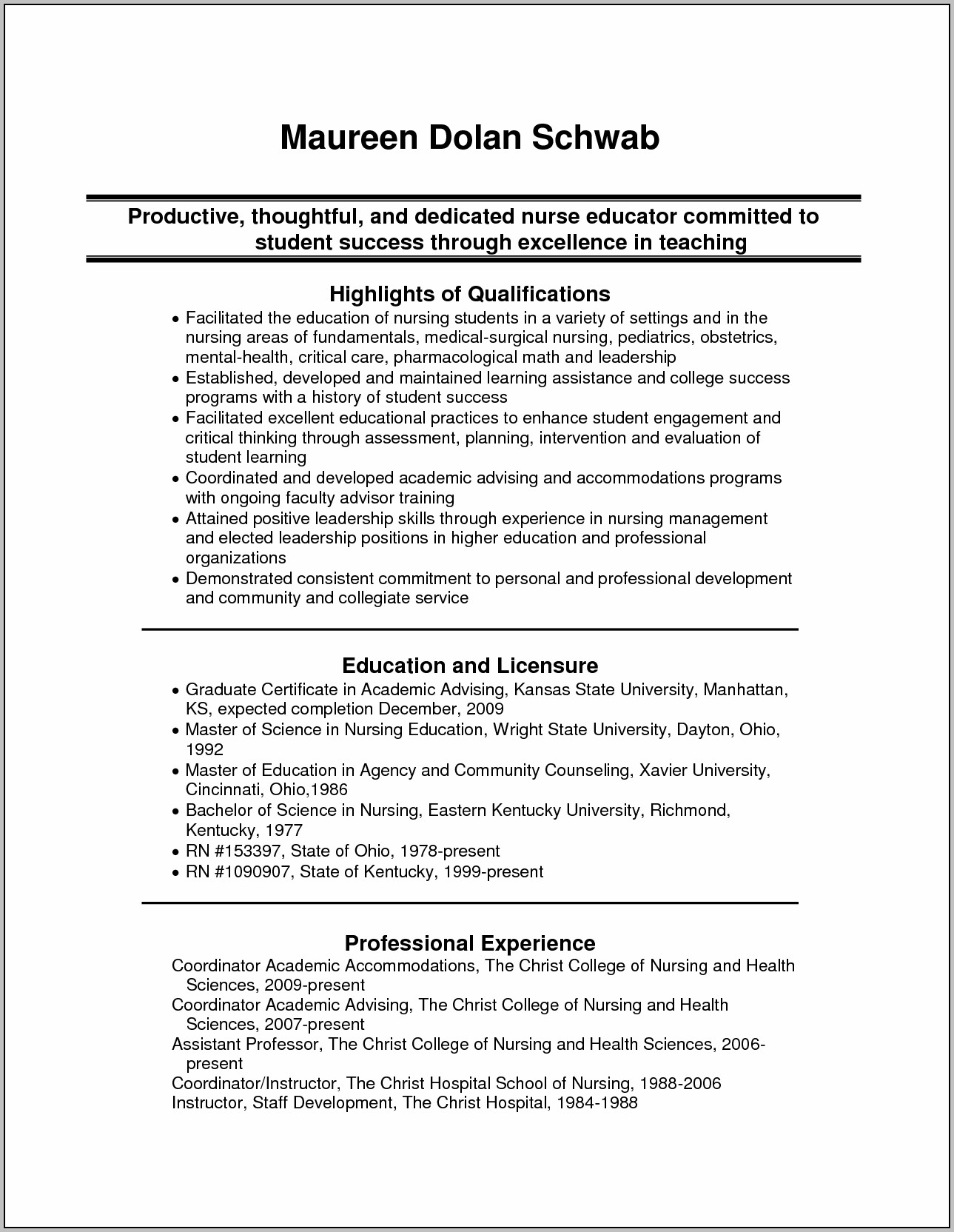Mock Resume Fill In The Blanks