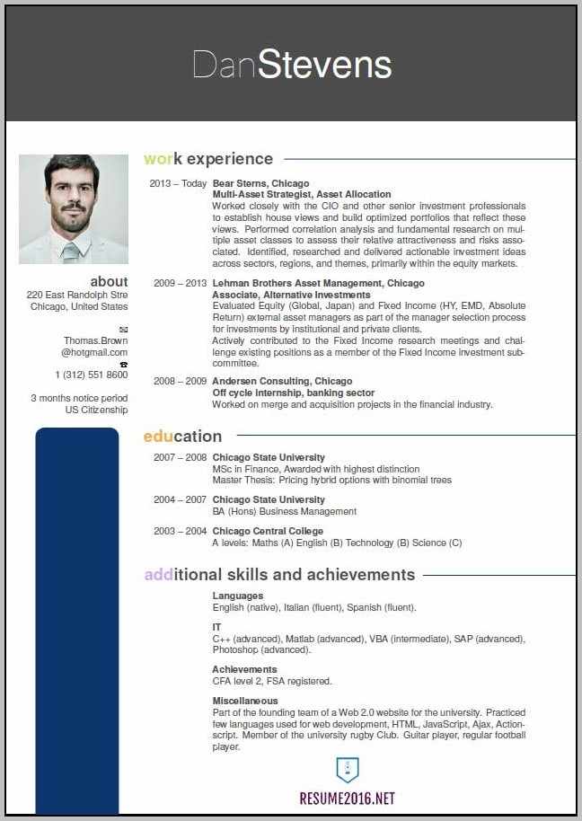 New Resume Format Doc