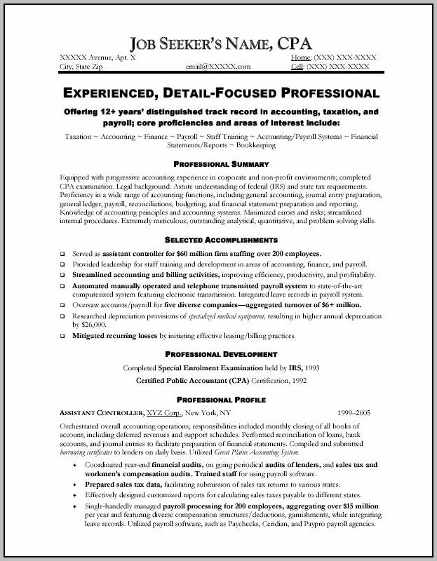 Professional Cv Writing For Accountants