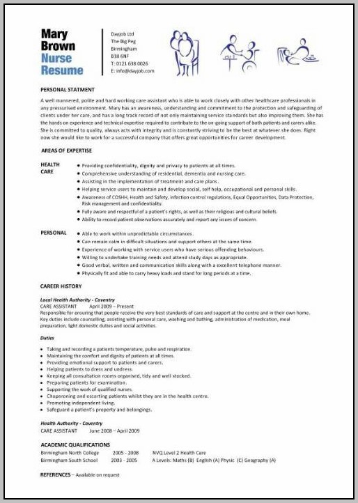 Resume For Rn Position