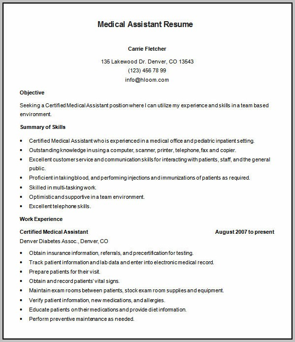 Resume Format Free Download For Medical Representative