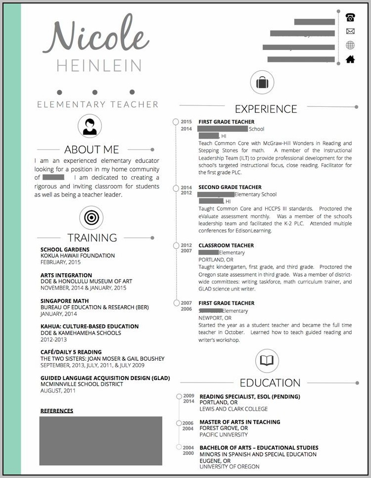 Resume Templates For Teachers In Word