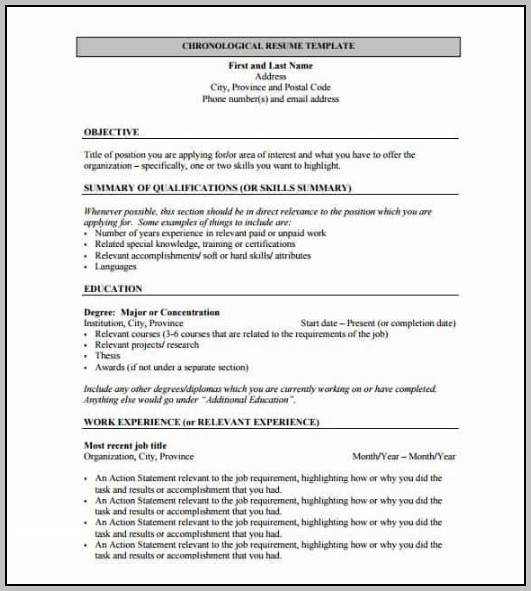 Sample Resume Format Freshers Free Download