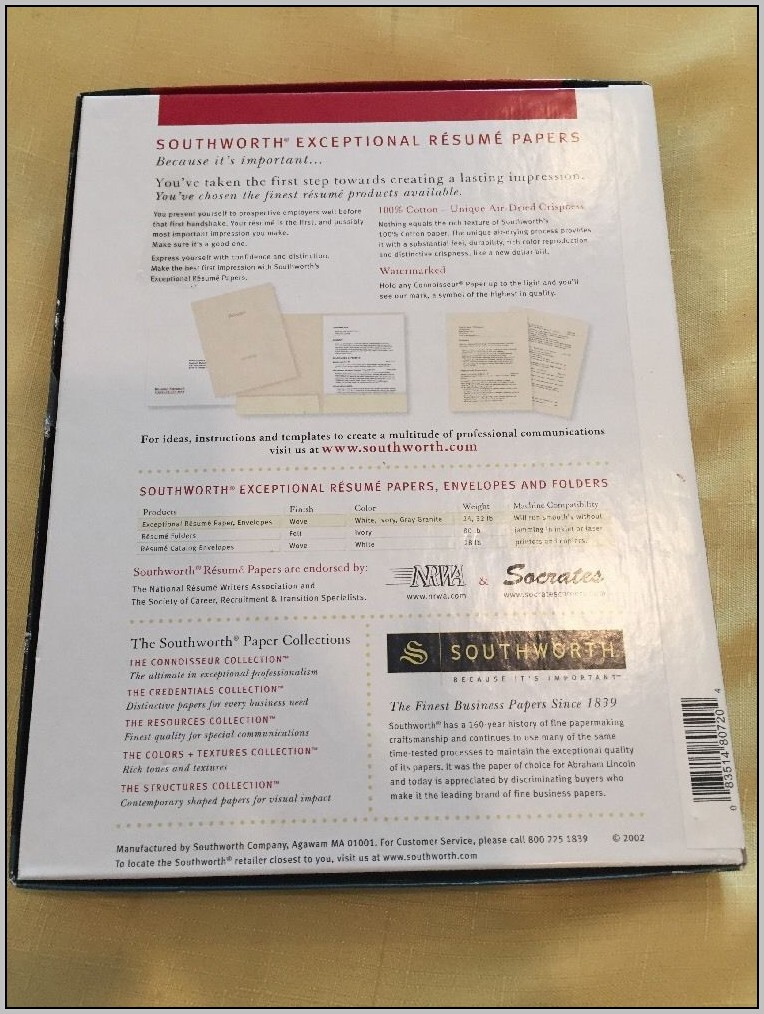 Southworth Resume Paper Ivory